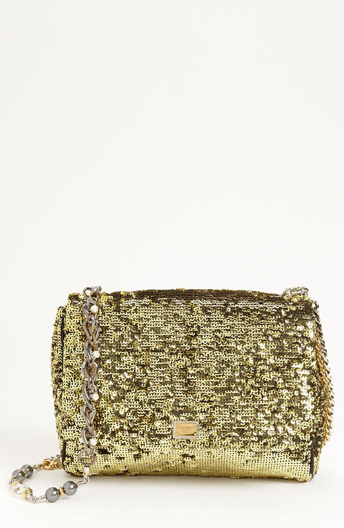 Main Image - Dolce&Gabbana 'Miss Charles' Sequin Shoulder Bag