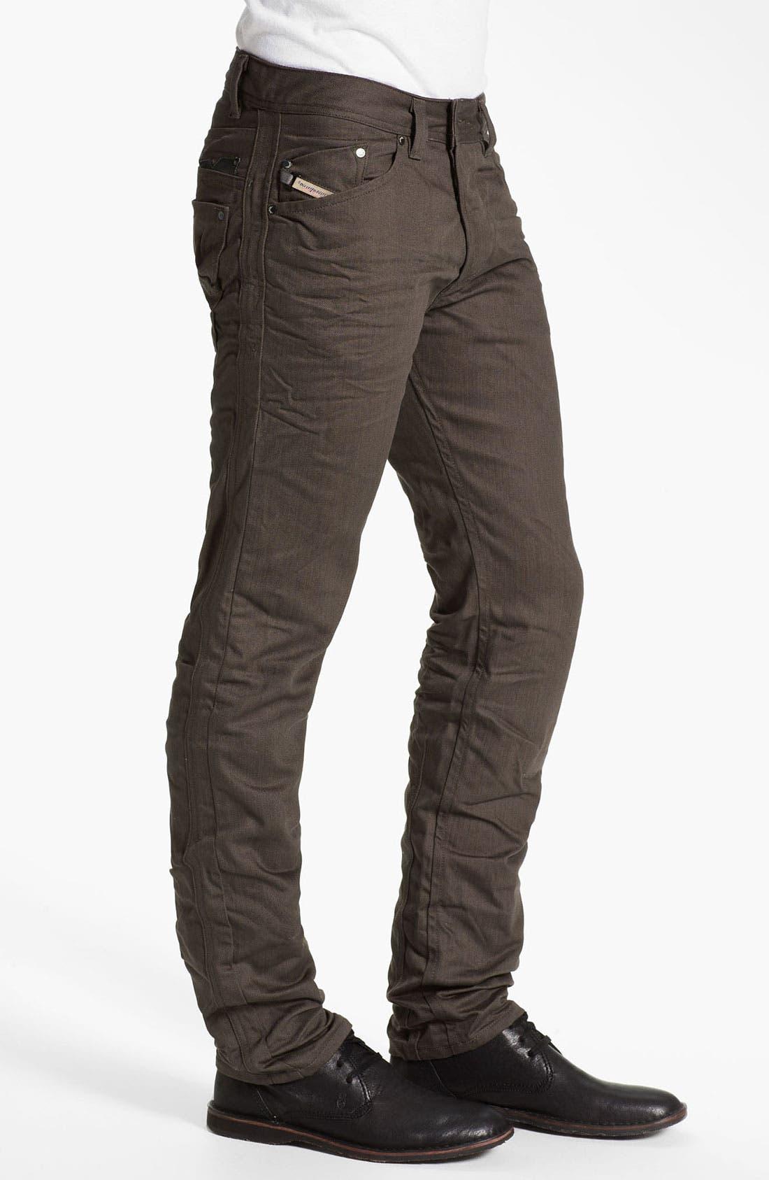 Alternate Image 3  - DIESEL® 'Darron' Slim Tapered Leg Jeans (Deep Black)