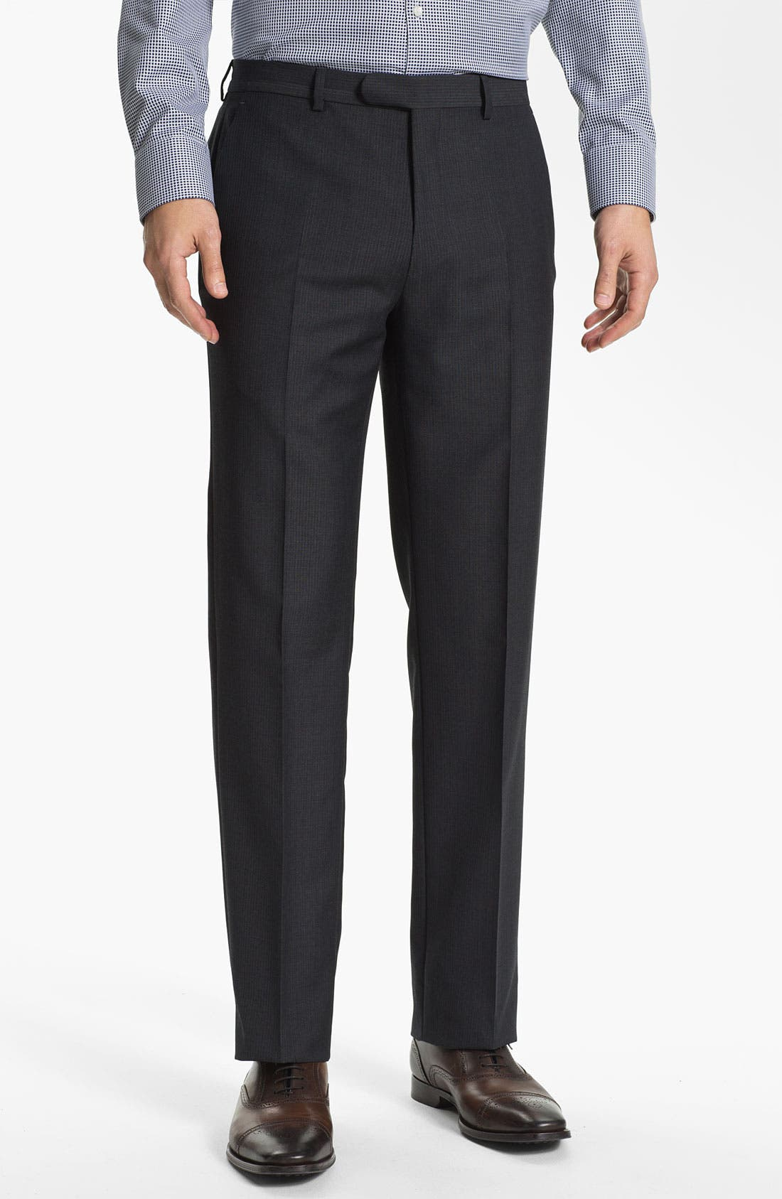 Alternate Image 4  - John Varvatos Star USA 'Bowery' Trim Fit Stripe Suit