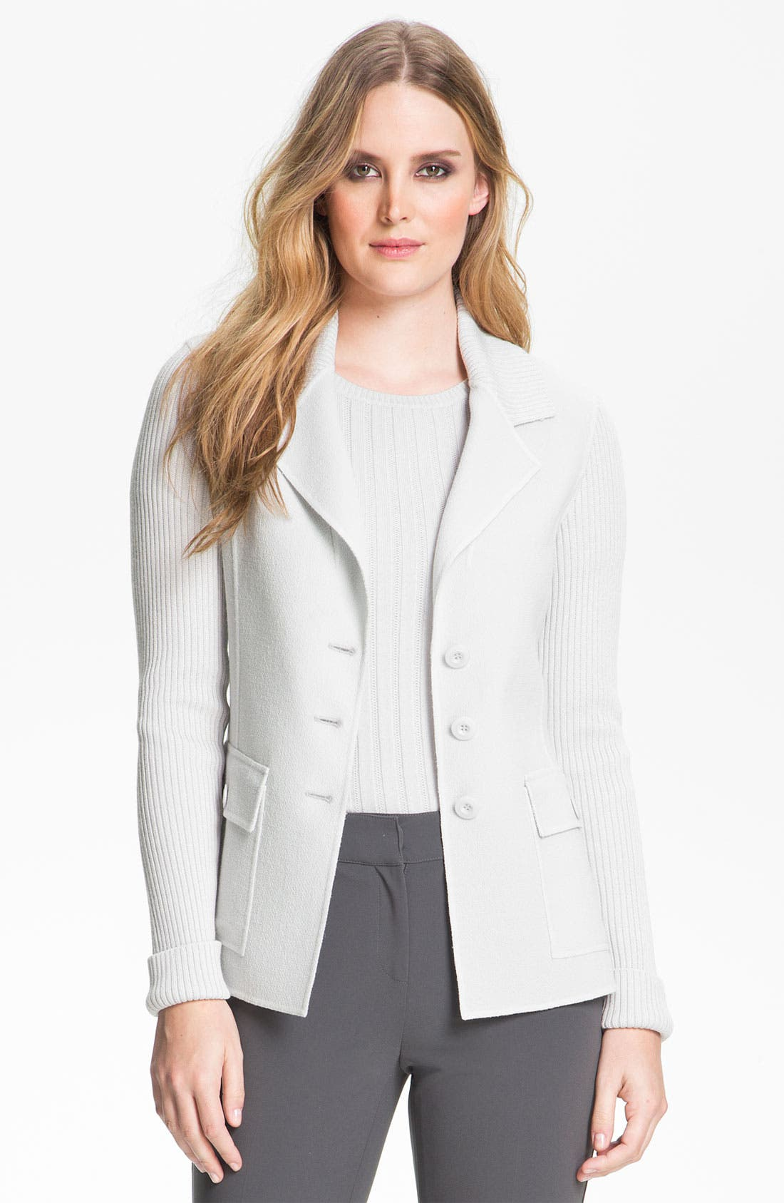 Alternate Image 2  - St. John Collection Fitted Crepe Jacket