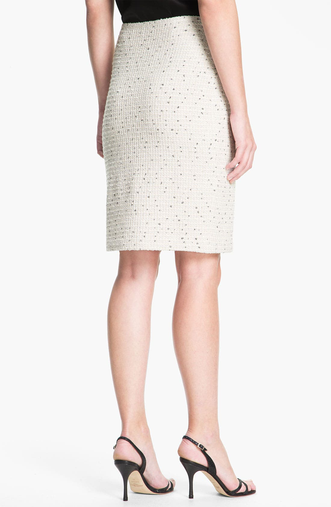 Alternate Image 3  - St. John Collection Shimmer Dot Tweed Pencil Skirt