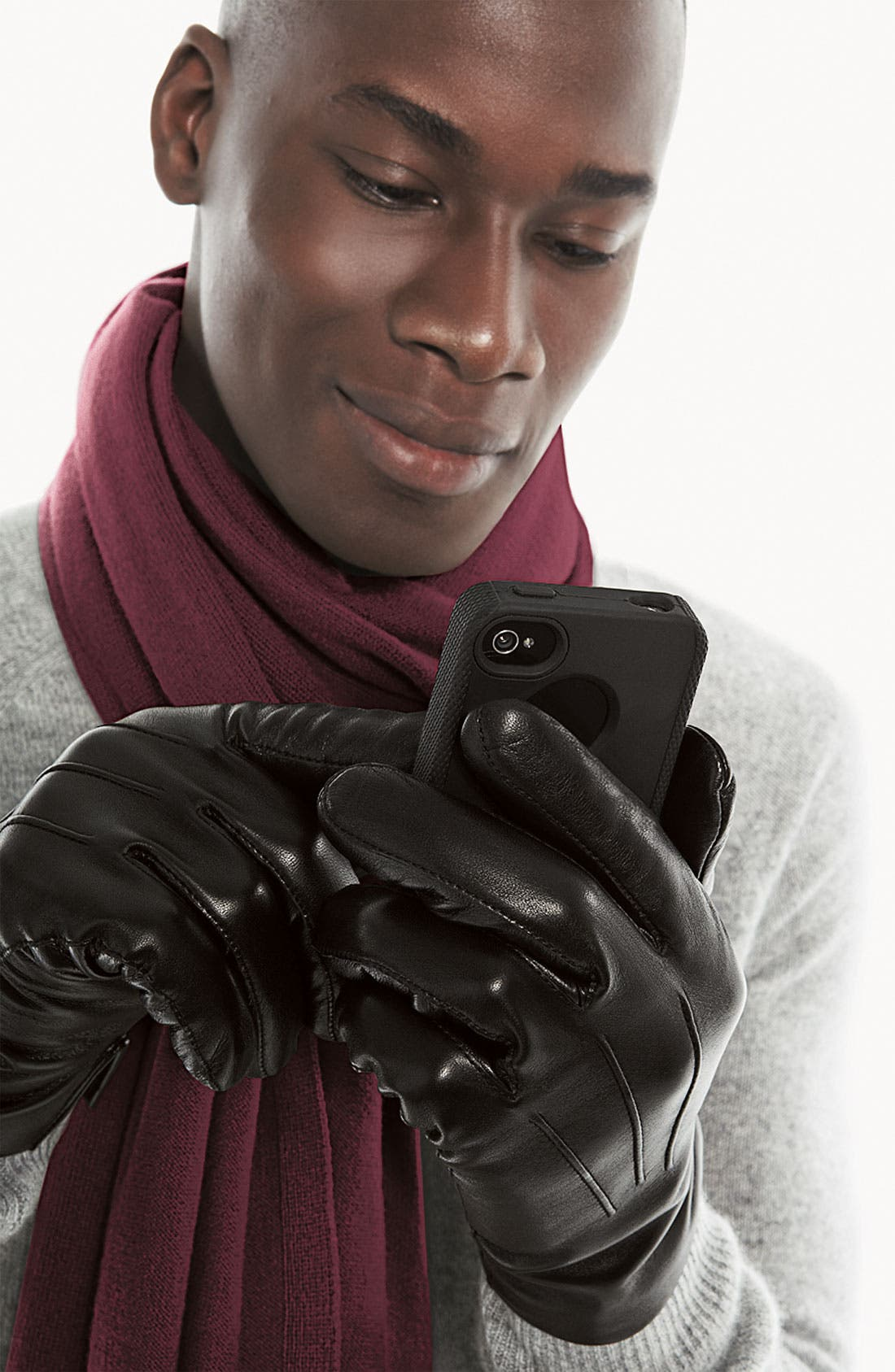 Alternate Image 3  - John W. Nordstrom® Cashmere Lined Leather Gloves