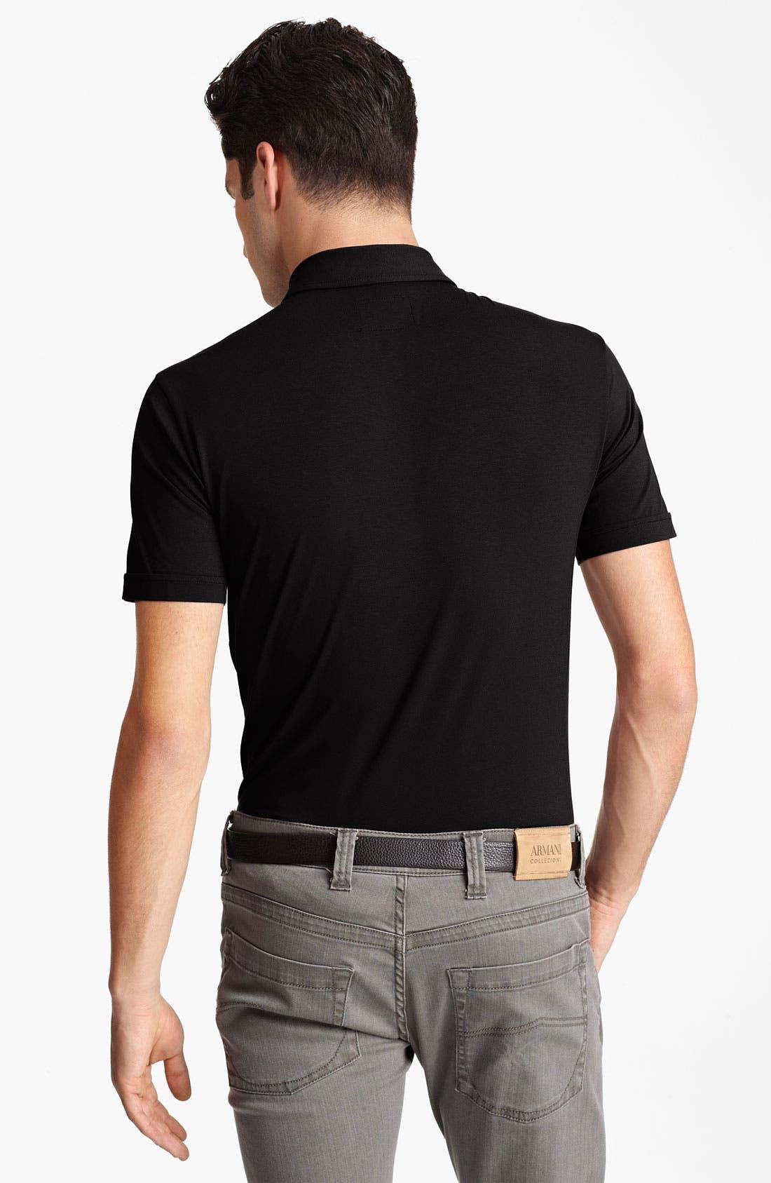 Alternate Image 2  - Armani Collezioni Jersey Shirt
