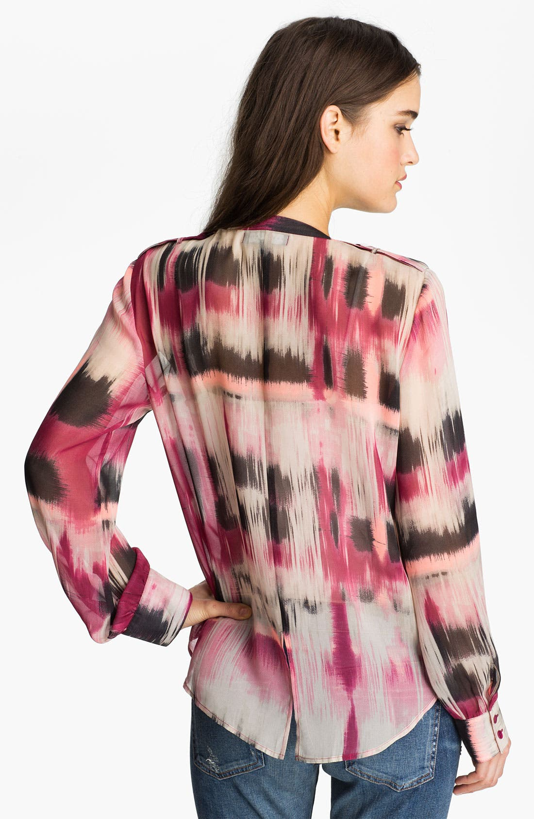 Alternate Image 2  - Sanctuary Abstract Print Chiffon Shirt