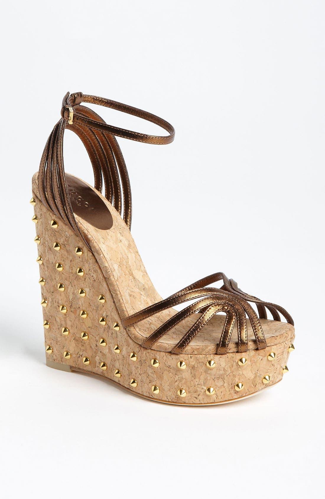 Main Image - Gucci 'Cecyl' Wedge Sandal
