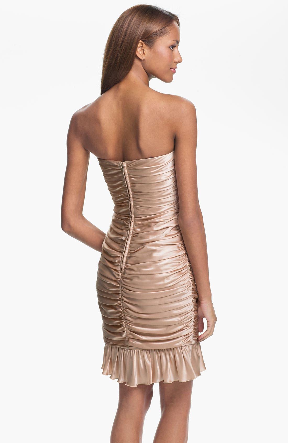 Alternate Image 2  - Jill Stuart Strapless Ruched Silk Charmeuse Dress