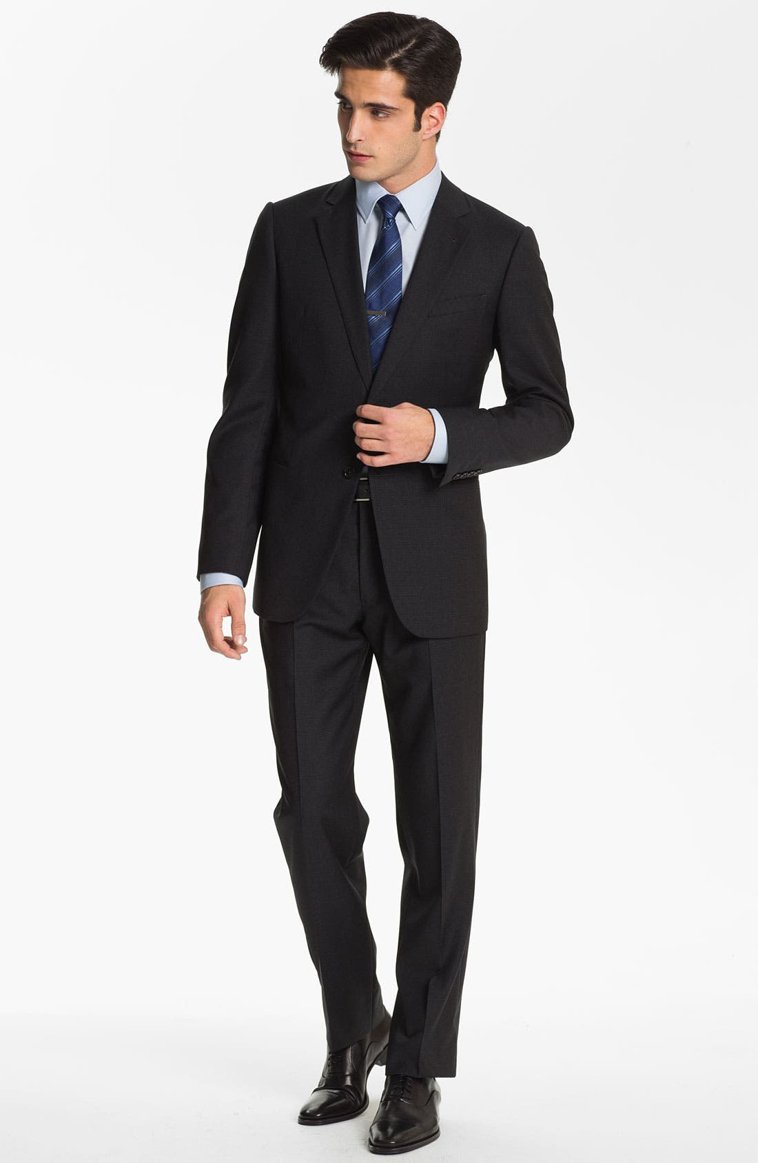 Alternate Image 2  - Armani Collezioni Trim Fit Wool Suit