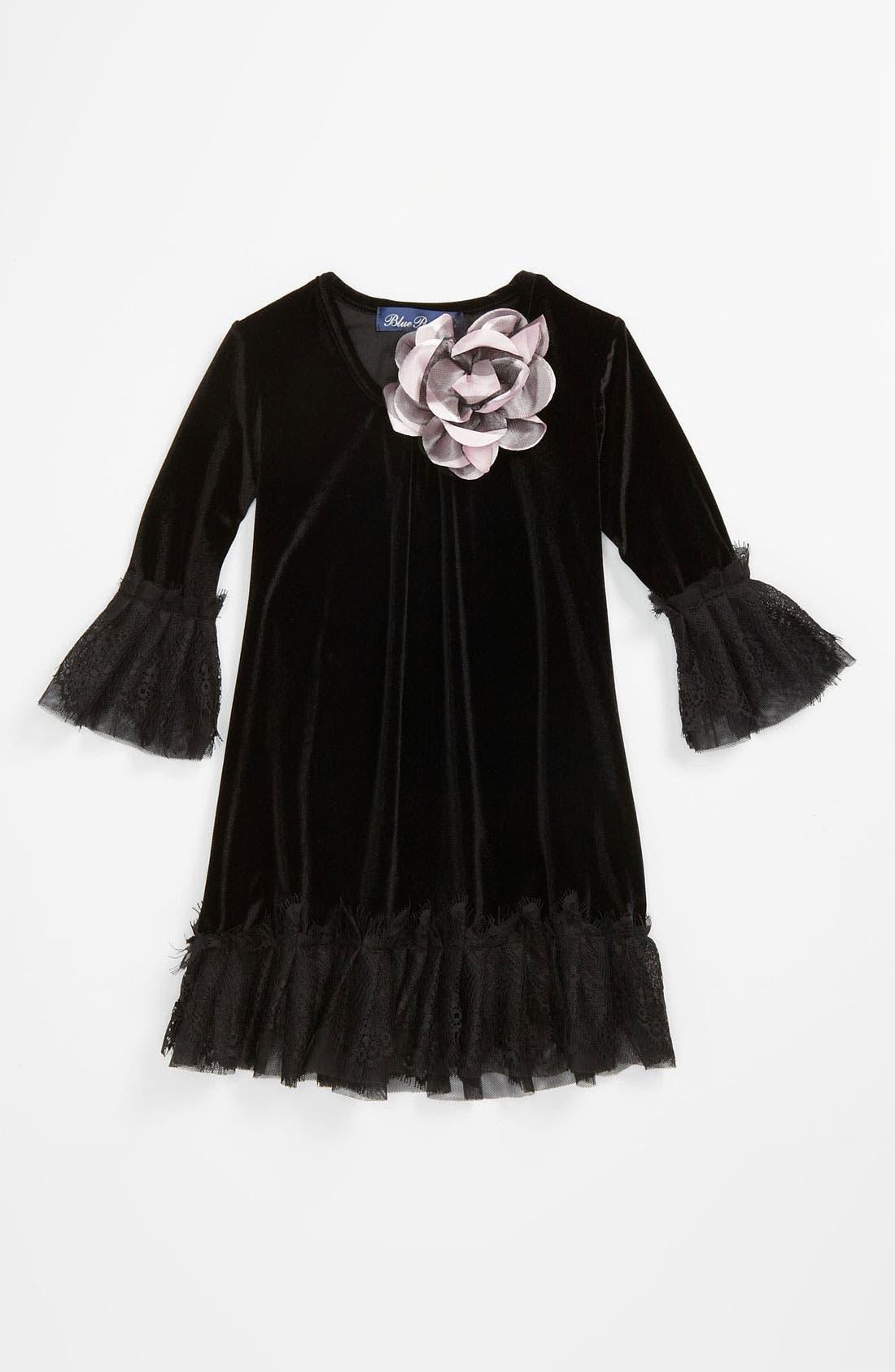 Alternate Image 1 Selected - Love U Lots Velour Dress (Little Girls)