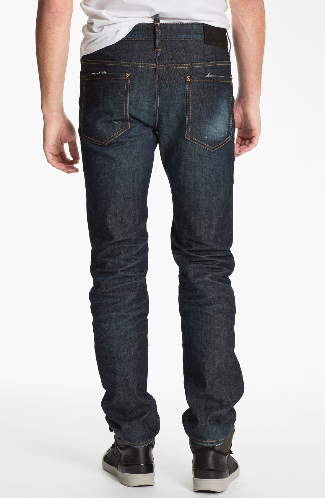Alternate Image 2  - Dsquared2 'Dean' Straight Leg Jeans (Blue)