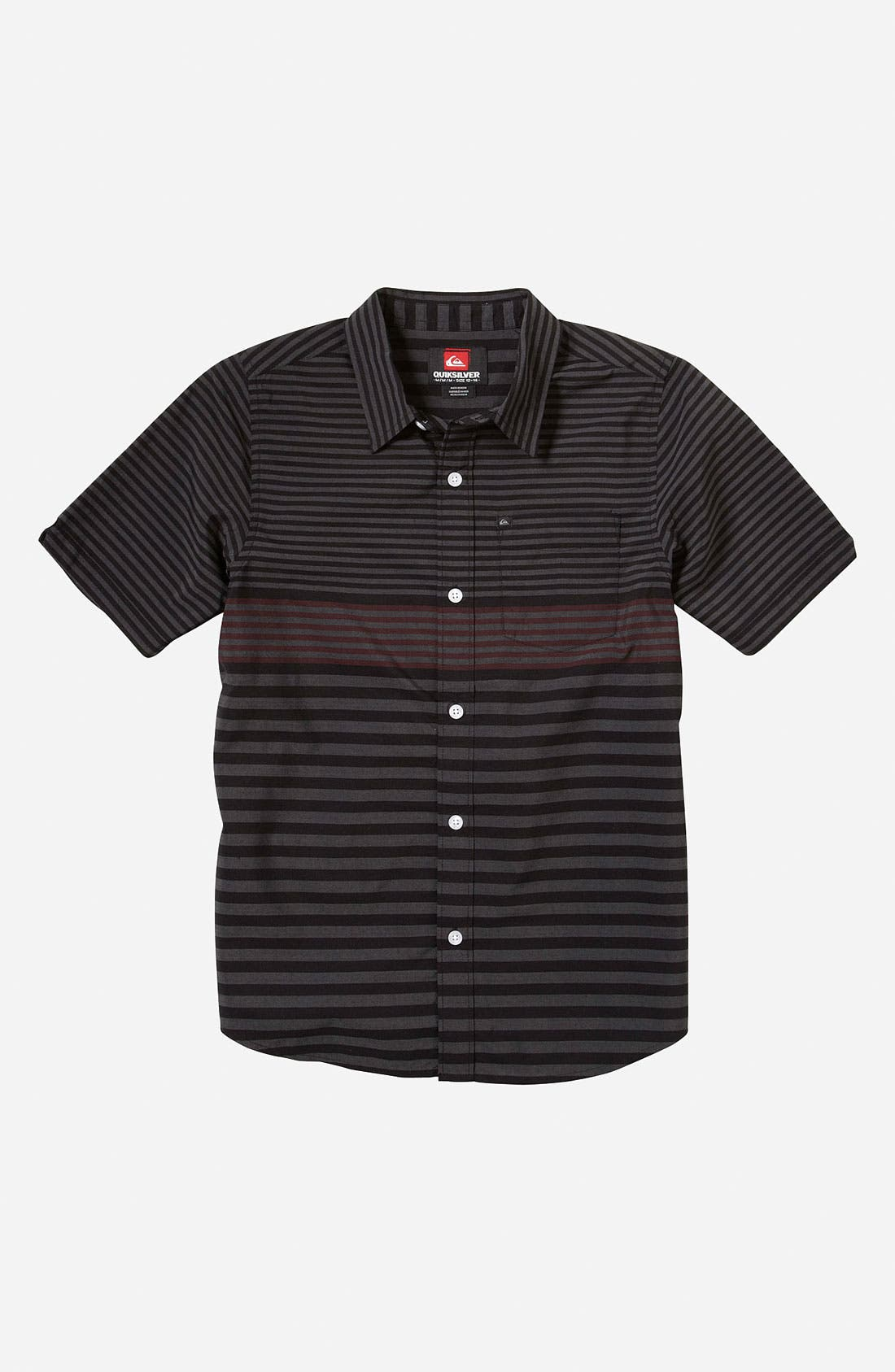 Alternate Image 1 Selected - Quiksilver 'Moving Seats' Woven Shirt (Little Boys)