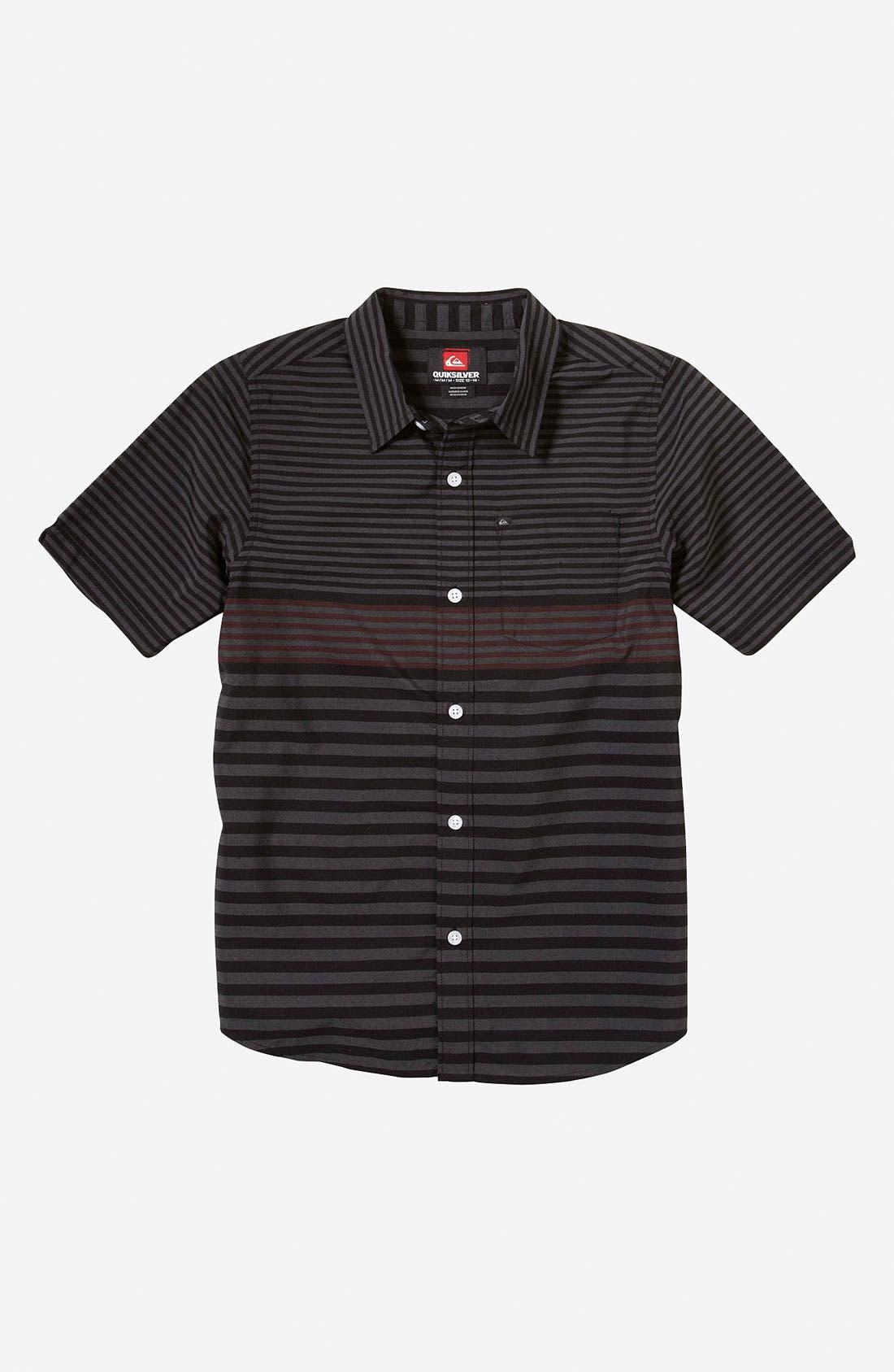 Main Image - Quiksilver 'Moving Seats' Woven Shirt (Little Boys)