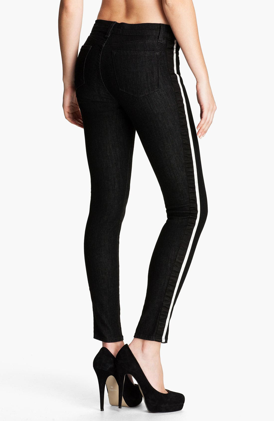 Alternate Image 2  - J Brand 'Rowan' Stripe Skinny Jeans (Tux)