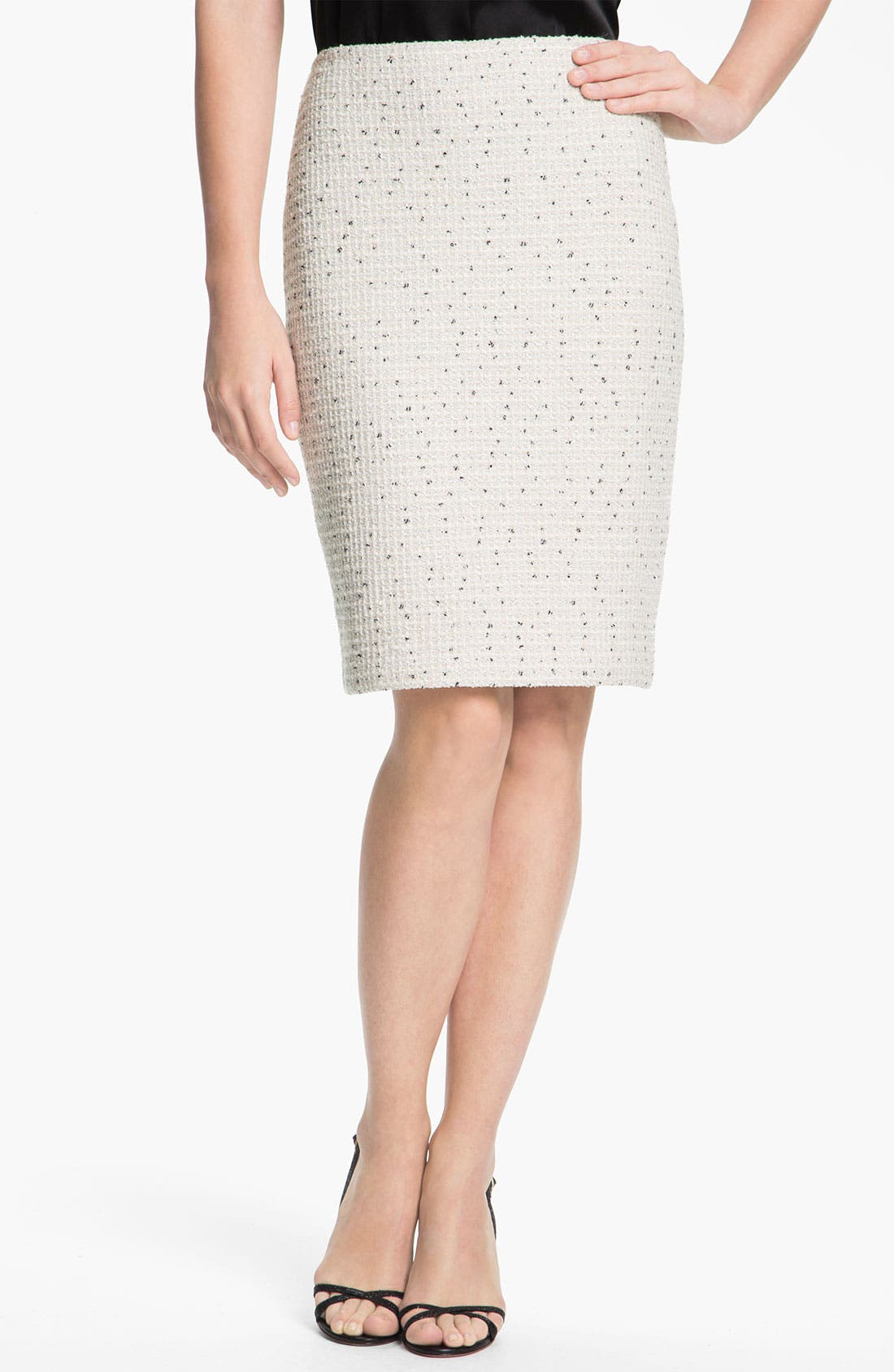 Alternate Image 2  - St. John Collection Shimmer Dot Tweed Pencil Skirt