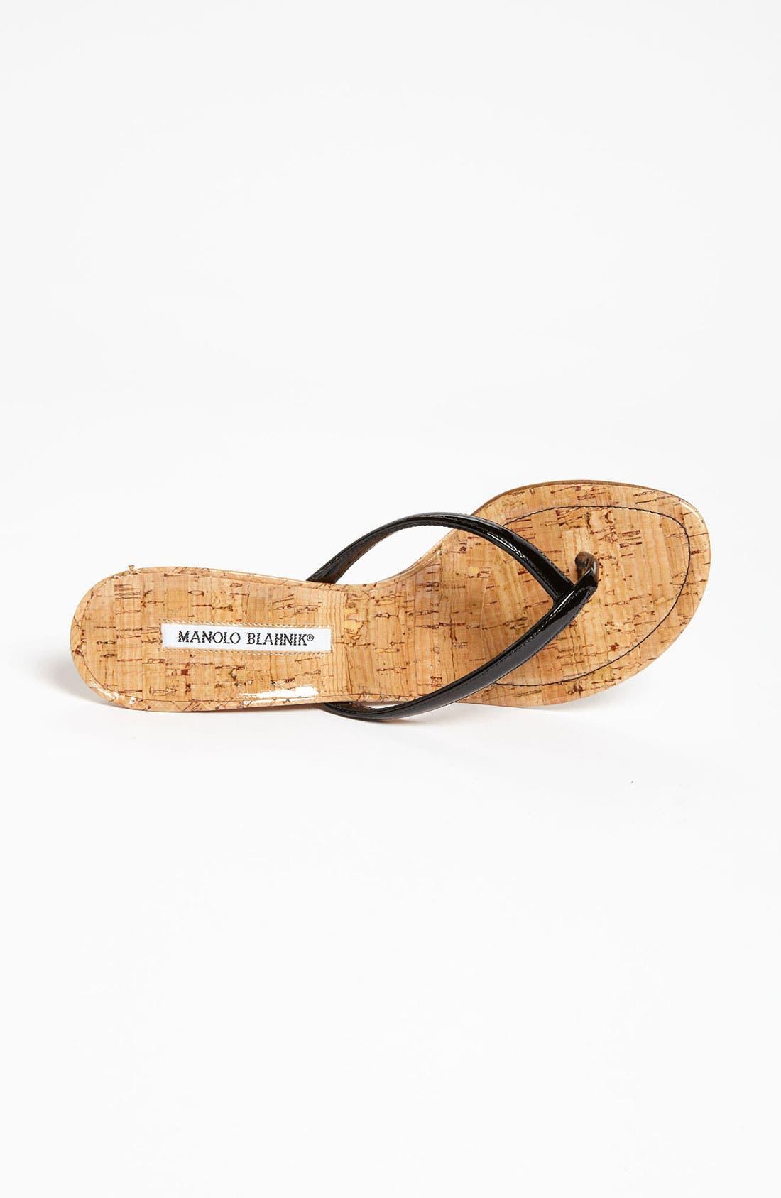 Alternate Image 3  - Manolo Blahnik 'Patwedge' Sandal