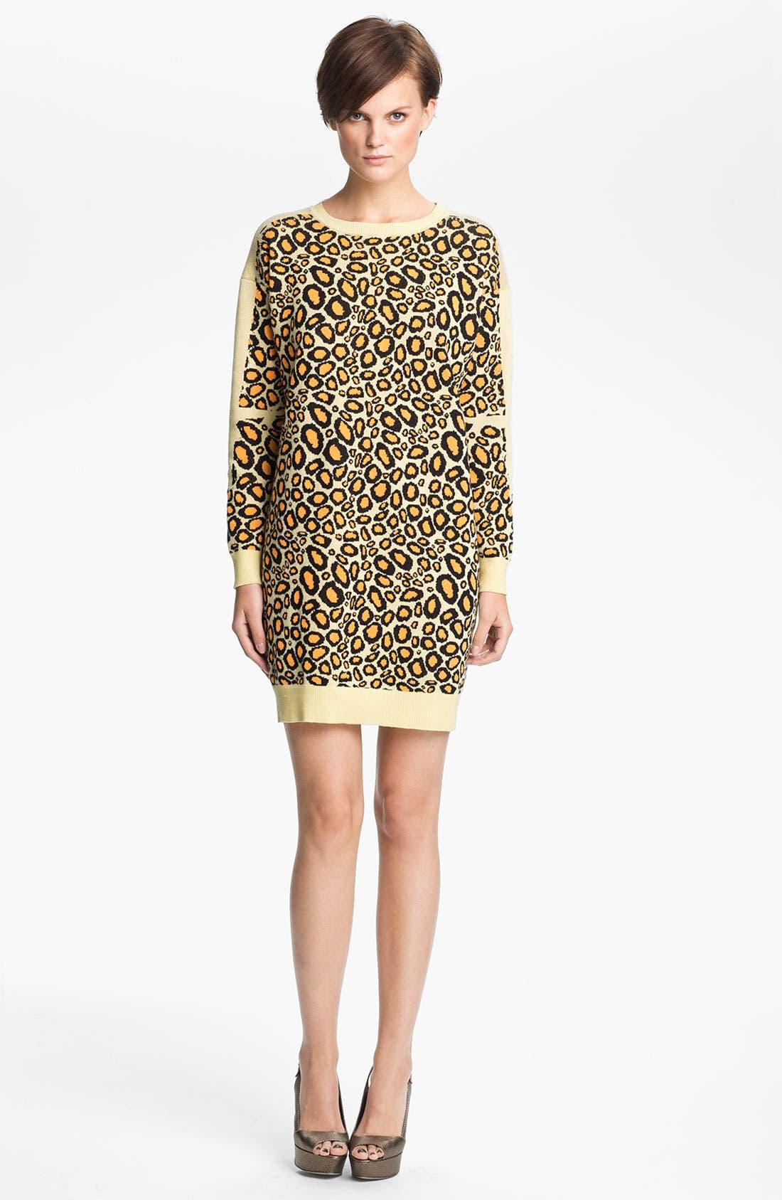 Main Image - KENZO Leopard Jacquard Sweater Dress
