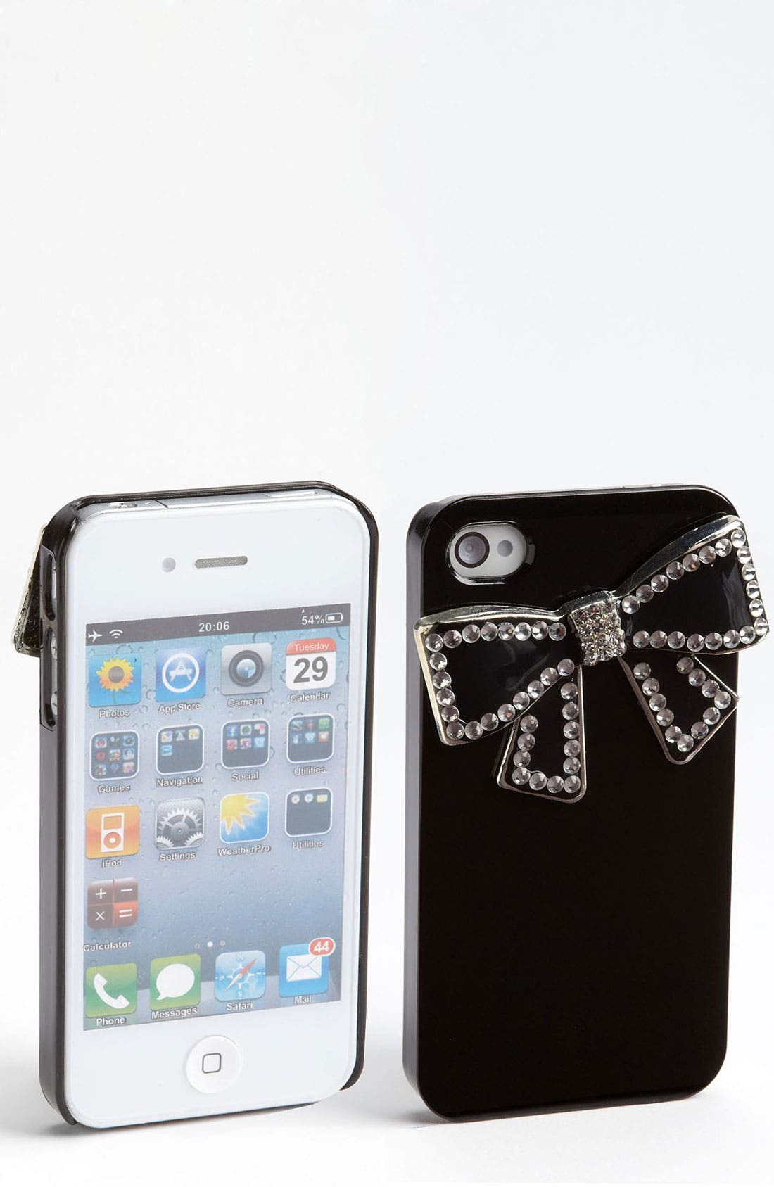 Alternate Image 1 Selected - Top Choice Rhinestone Bow iPhone 4 & 4S Case