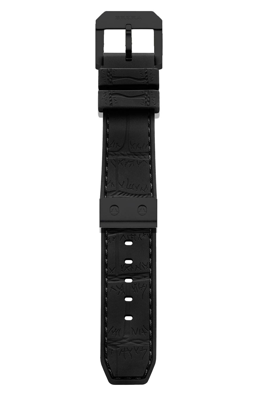 Main Image - 22MM CROC EMBOSSED SILICONE STRAP W BLACK HARDWARE