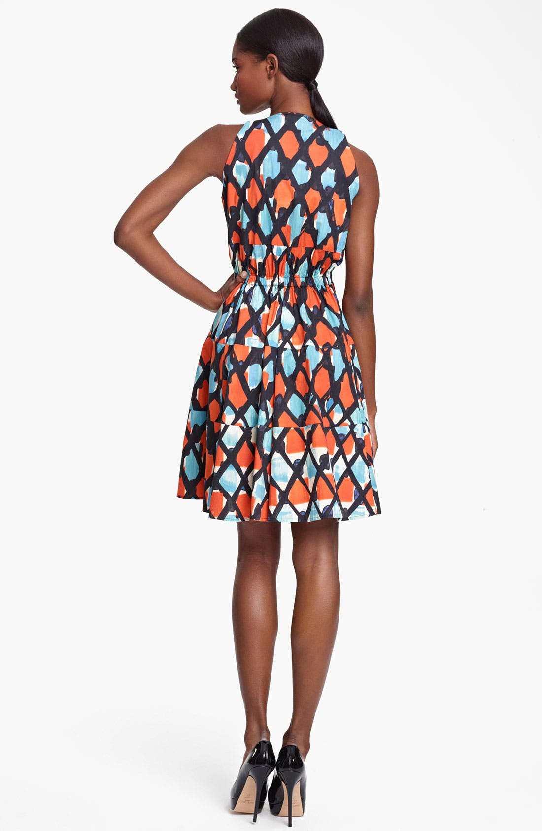 Alternate Image 2  - Thakoon Print Cinched Waist Poplin Dress