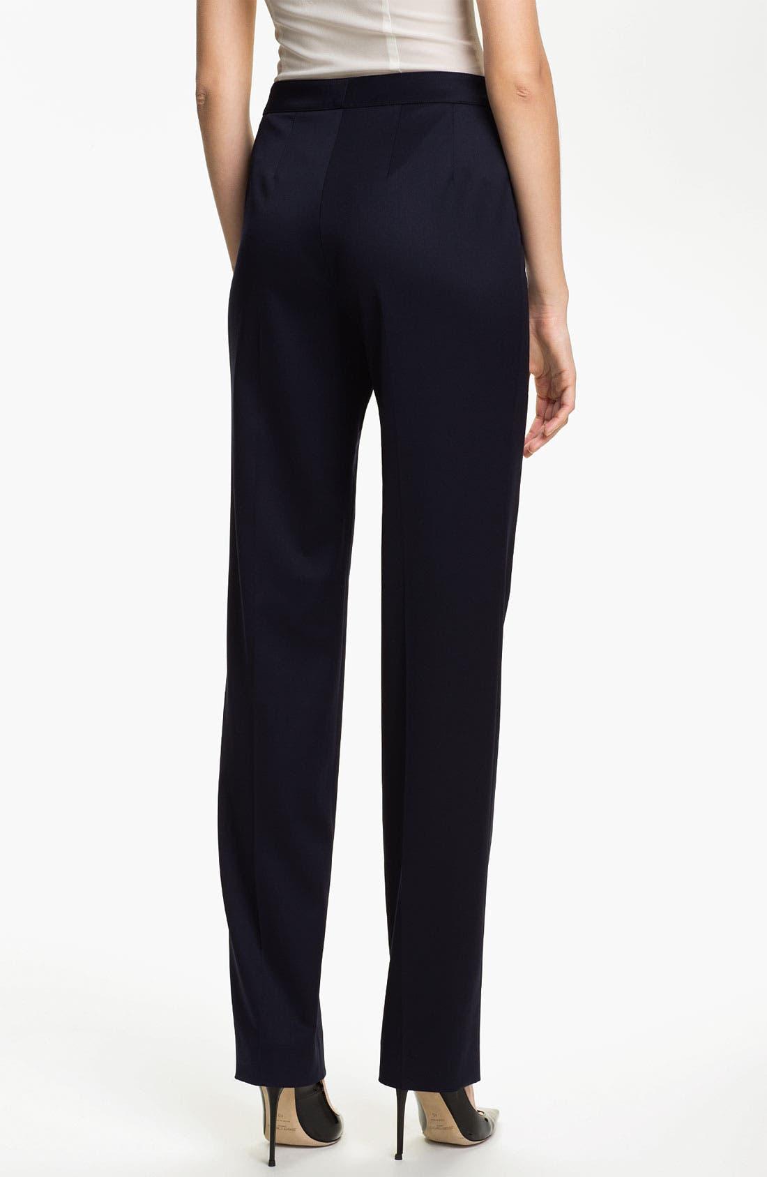 Alternate Image 3  - St. John Collection 'Diana' Straight Leg Venetian Wool Pants