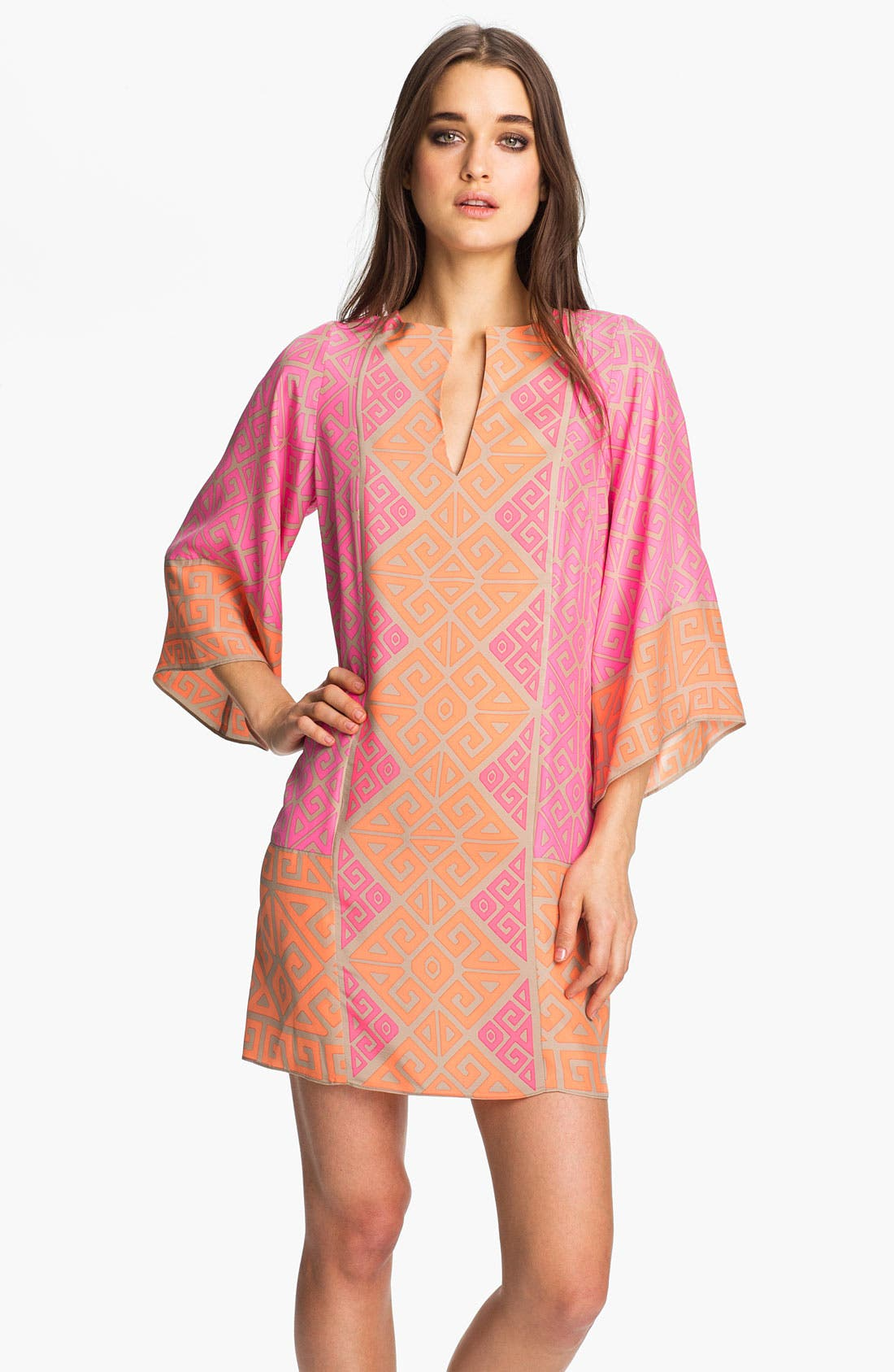 Main Image - ALICE & TRIXIE 'Georgina' Printed Silk Tunic Dress
