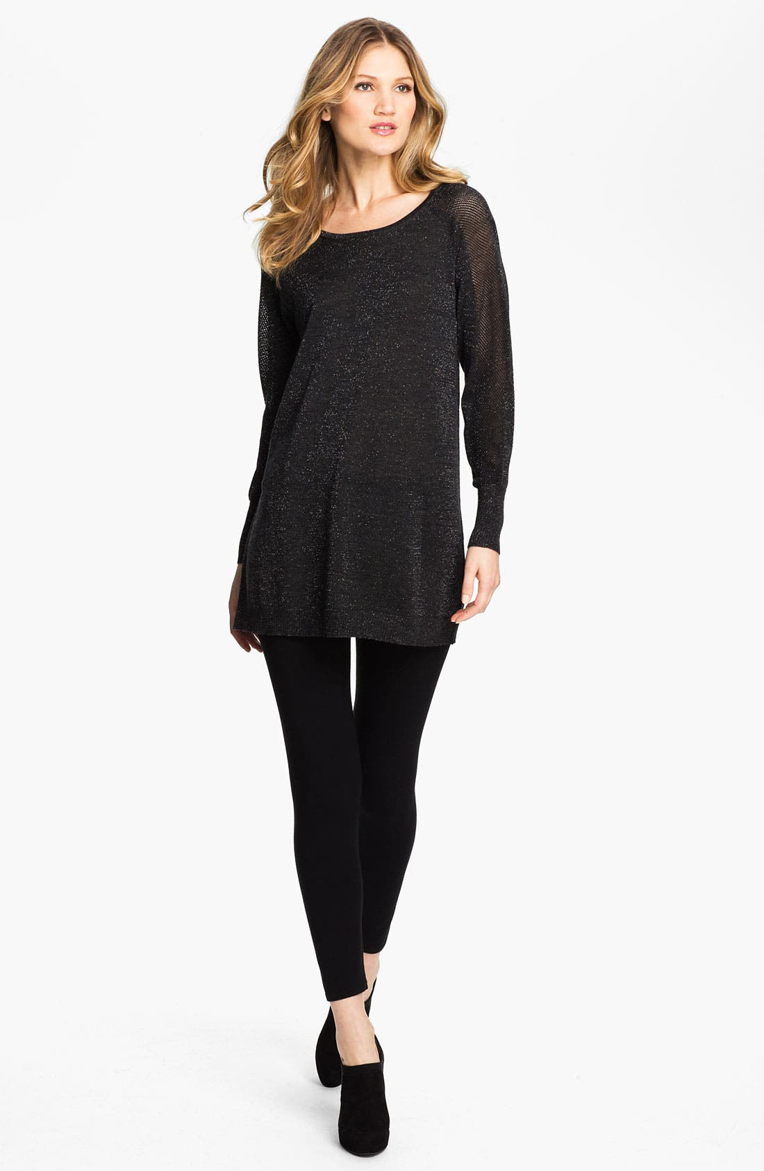 Alternate Image 4  - Eileen Fisher Jewel Neck Tunic (Online Exclusive)