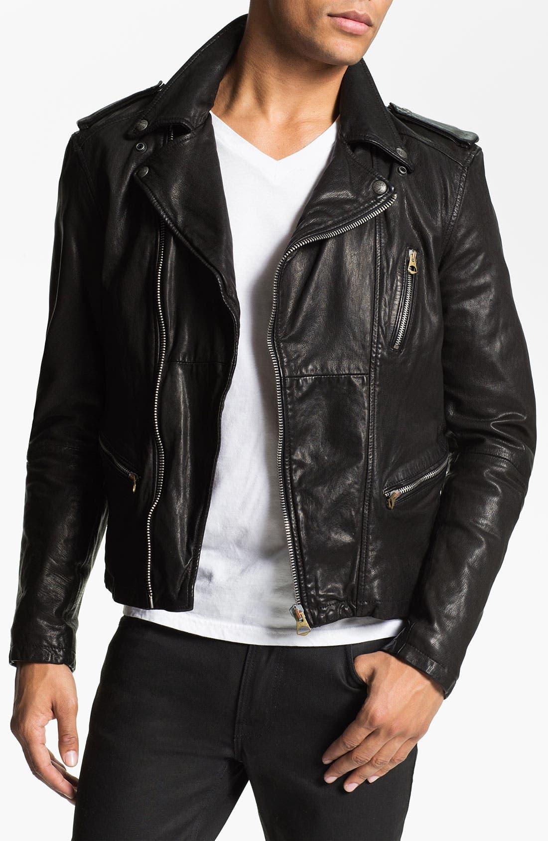 Main Image - Scotch & Soda 'Rocker' Leather Jacket