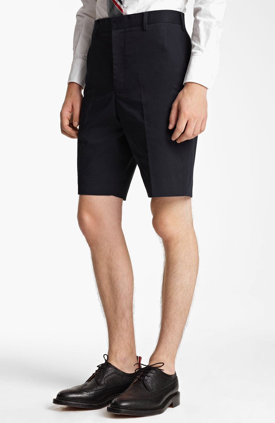 Alternate Image 1 Selected - Thom Browne Cotton Twill Shorts