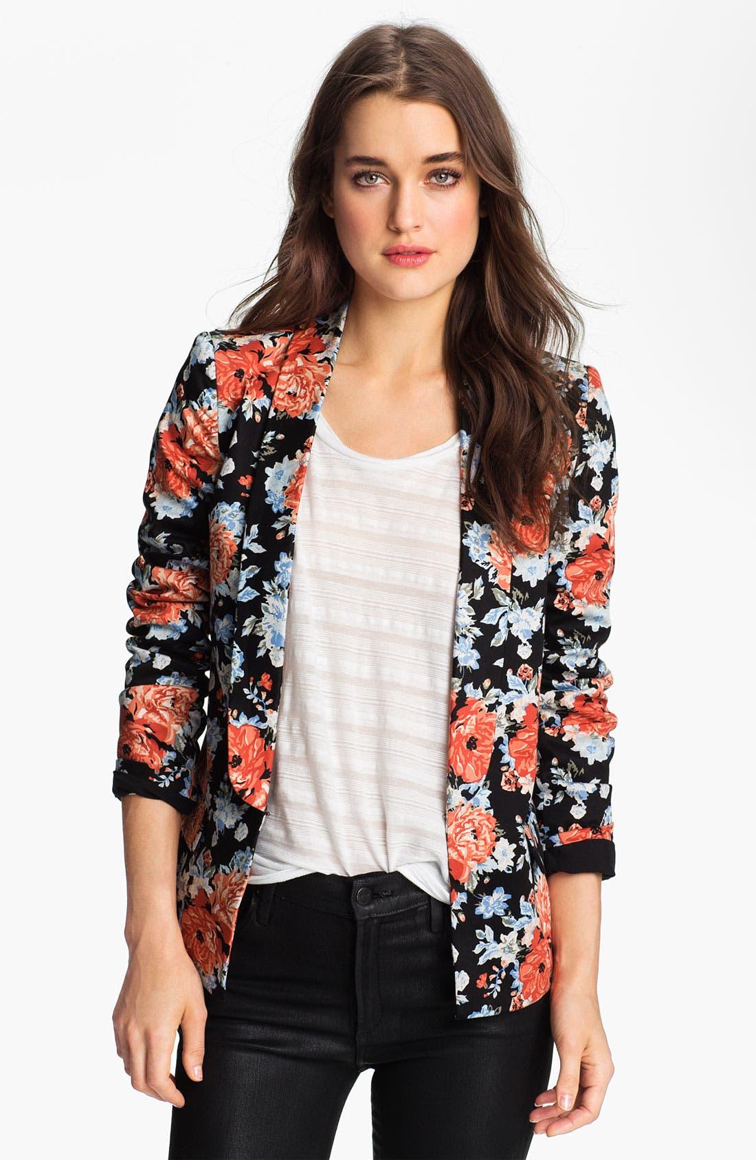 Alternate Image 1 Selected - Bardot Floral Blazer