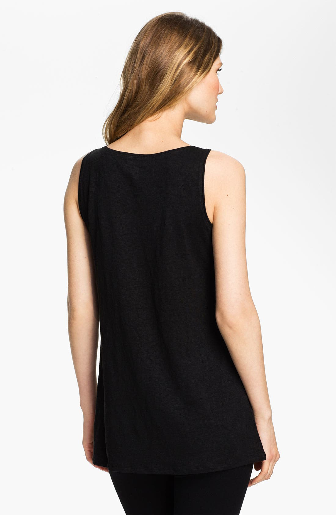 Alternate Image 2  - Eileen Fisher Scoop Neck Linen Tunic