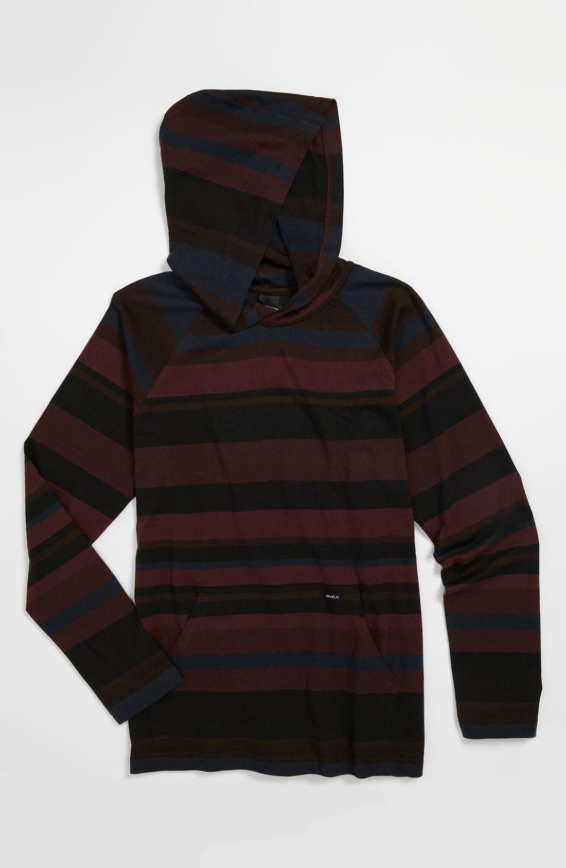 Alternate Image 1 Selected - RVCA 'Adirondak' Hooded Knit Shirt (Big Boys)