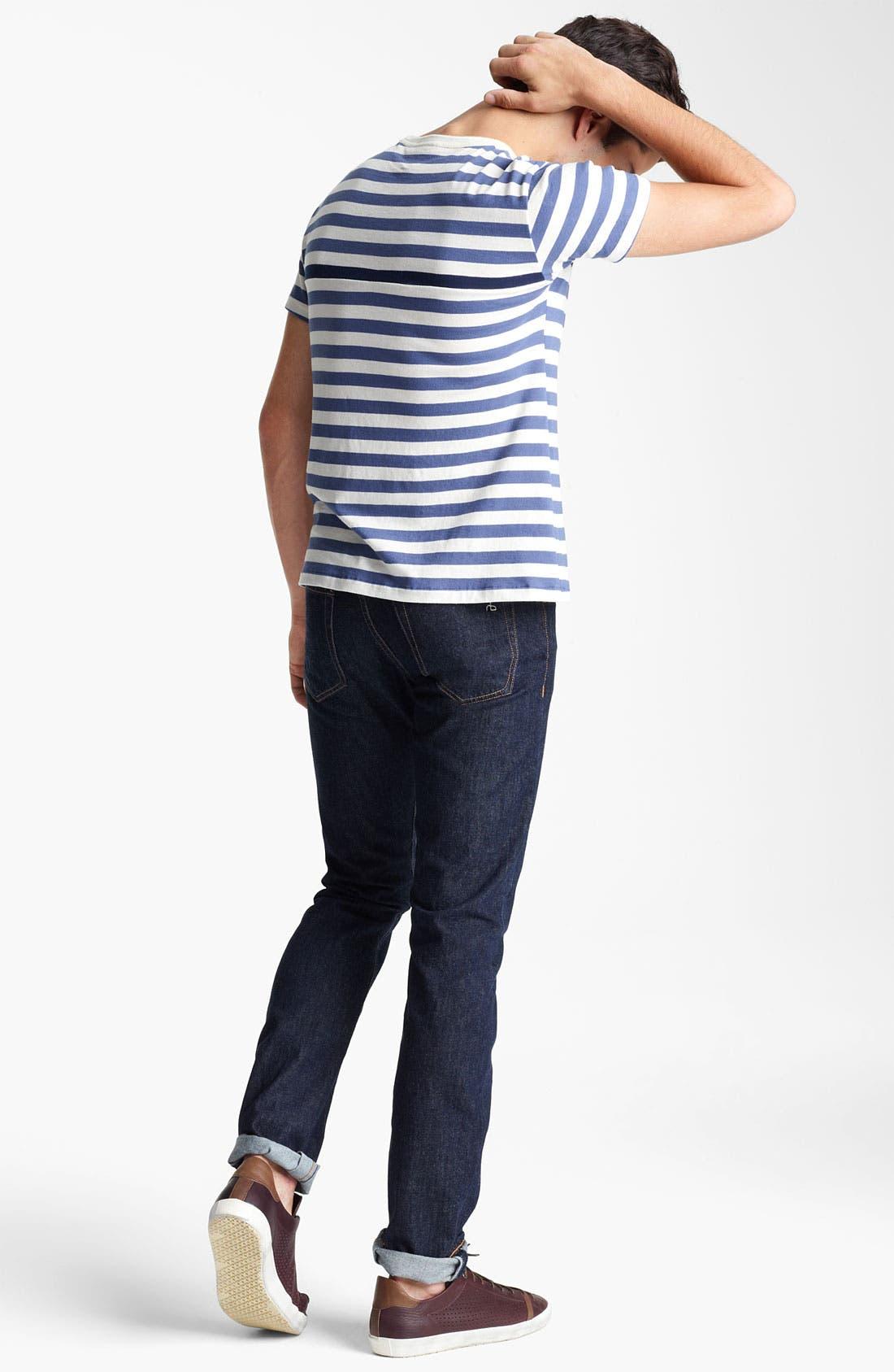 Alternate Image 5  - rag & bone Stripe Print T-Shirt