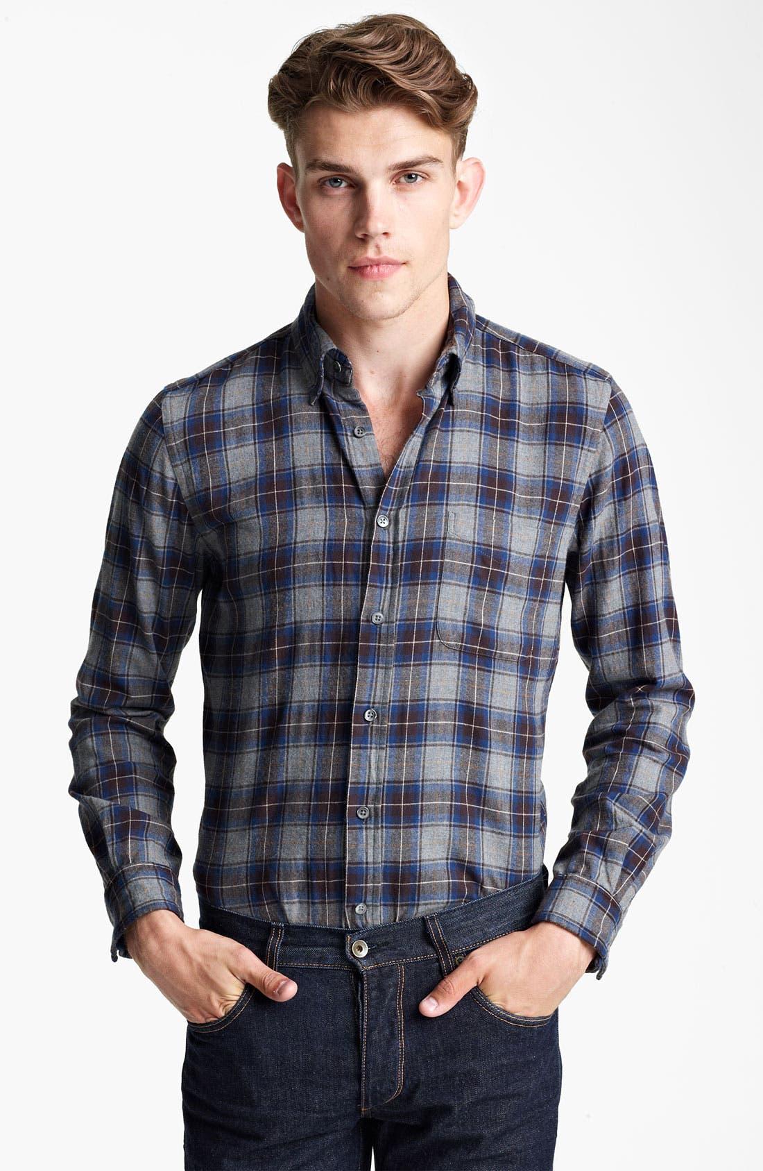 Main Image - Steven Alan 'Collegiate' Plaid Woven Shirt