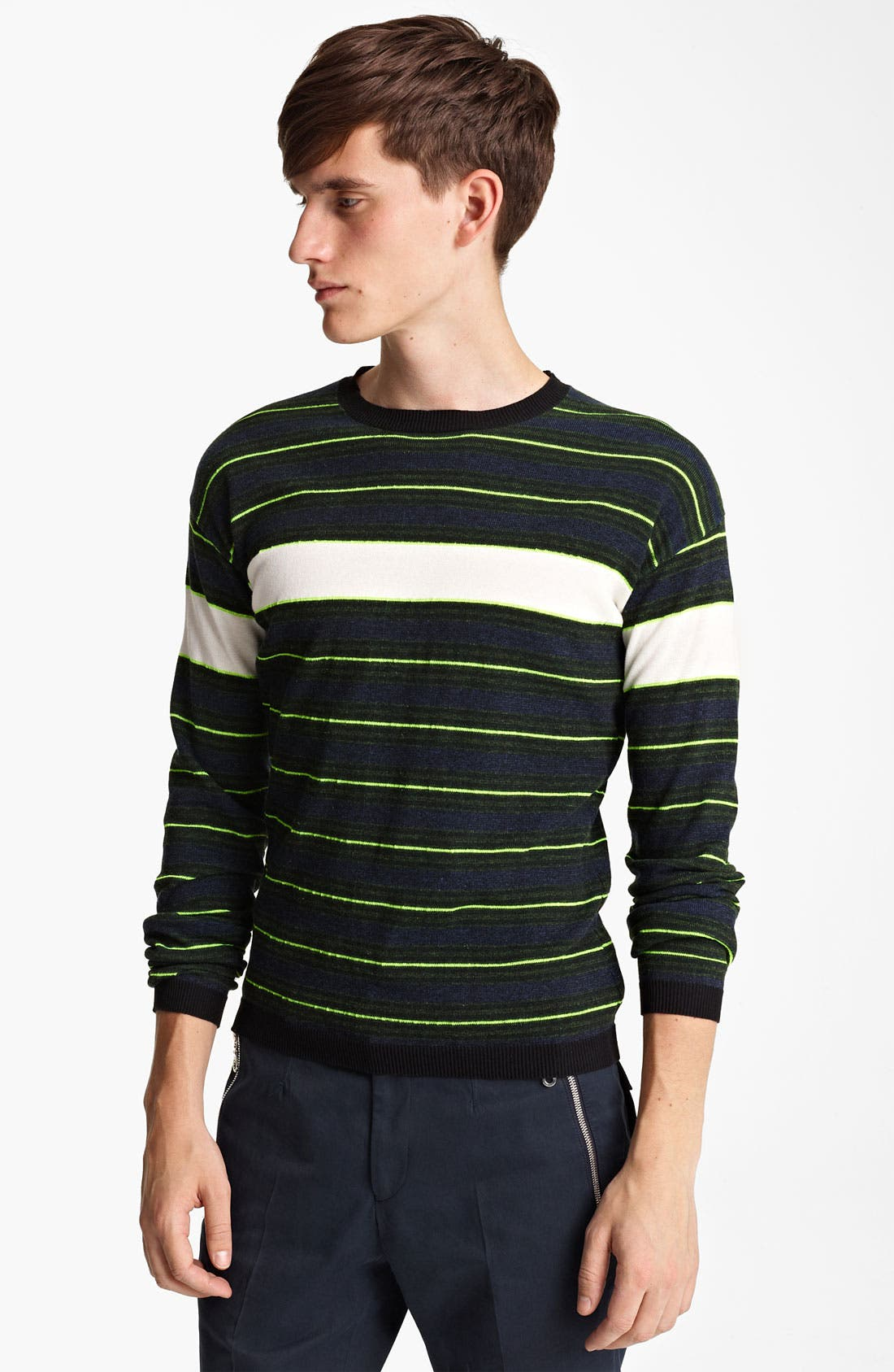 Main Image - KENZO Stripe Crewneck Sweater