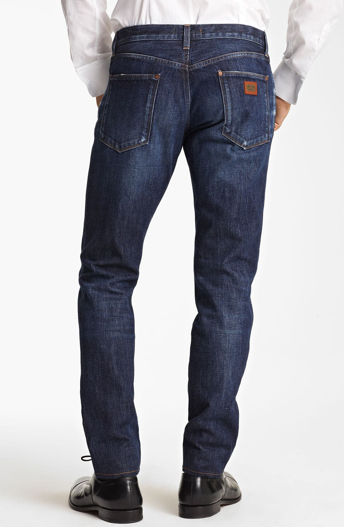Slim Straight Leg Jeans,                             Alternate thumbnail 2, color,                             Dark Blue