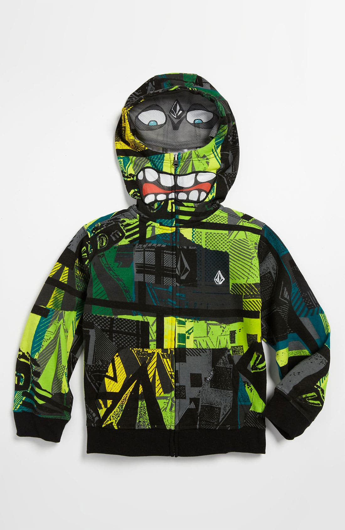 Alternate Image 1 Selected - Volcom 'Marbles' Mask Hoodie (Little Boys)