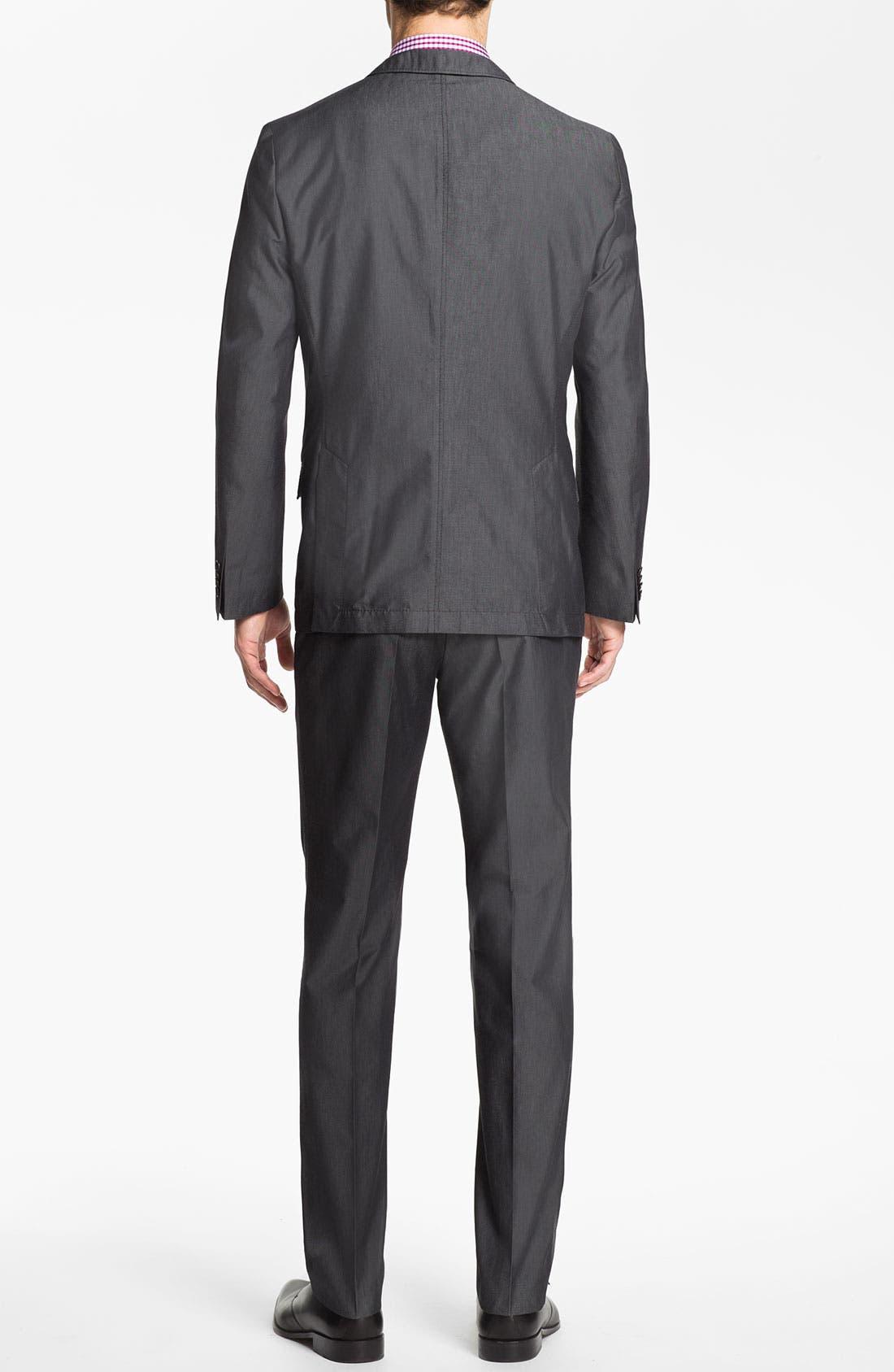 Alternate Image 3  - BOSS HUGO BOSS 'Heaven/Fly' Trim Fit Cotton Blend Suit