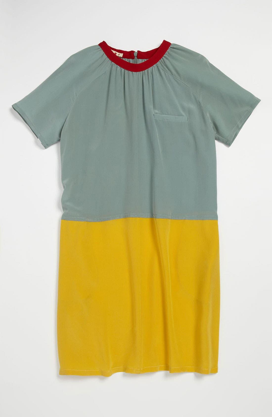 Main Image - Marni Colorblock Silk Dress (Little Girls & Big Girls)