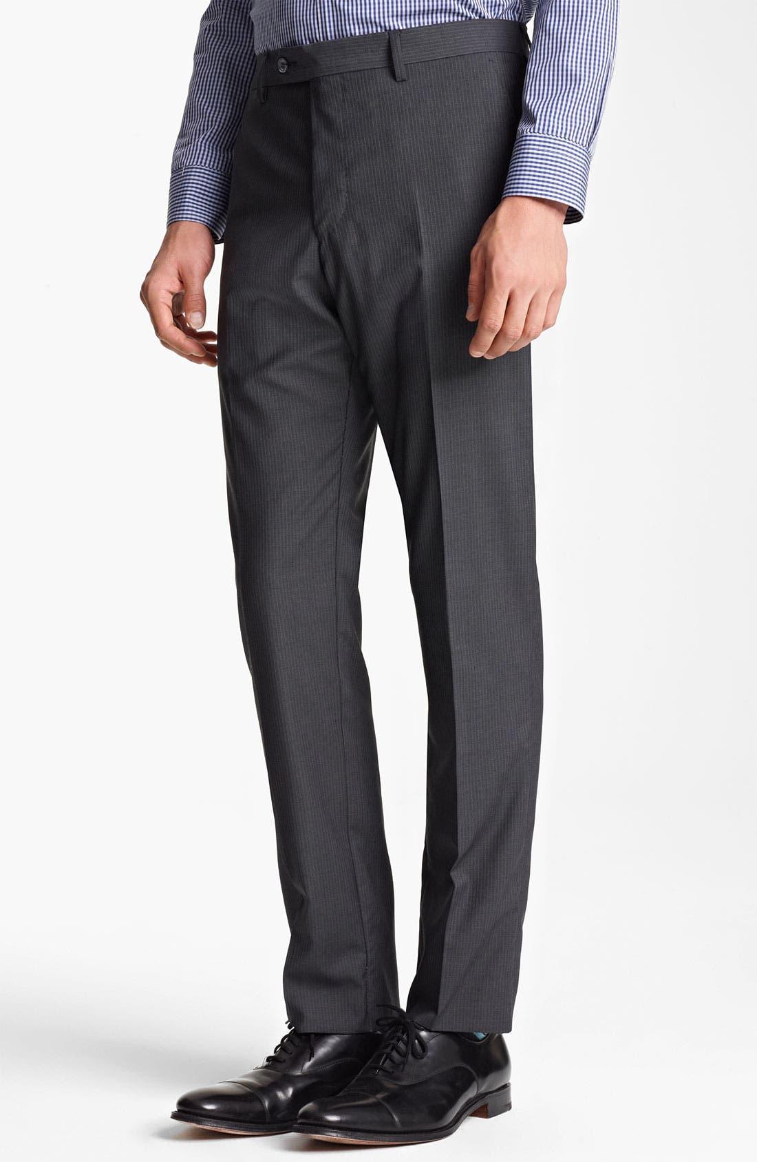 Alternate Image 4  - Paul Smith London Slim Fit Chalk Stripe Wool Suit