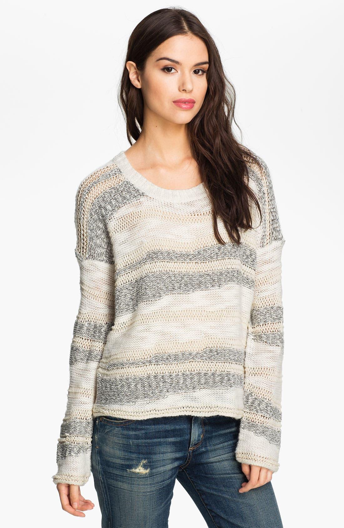Alternate Image 1 Selected - Ella Moss 'Simona' Streaky Stripe Sweater