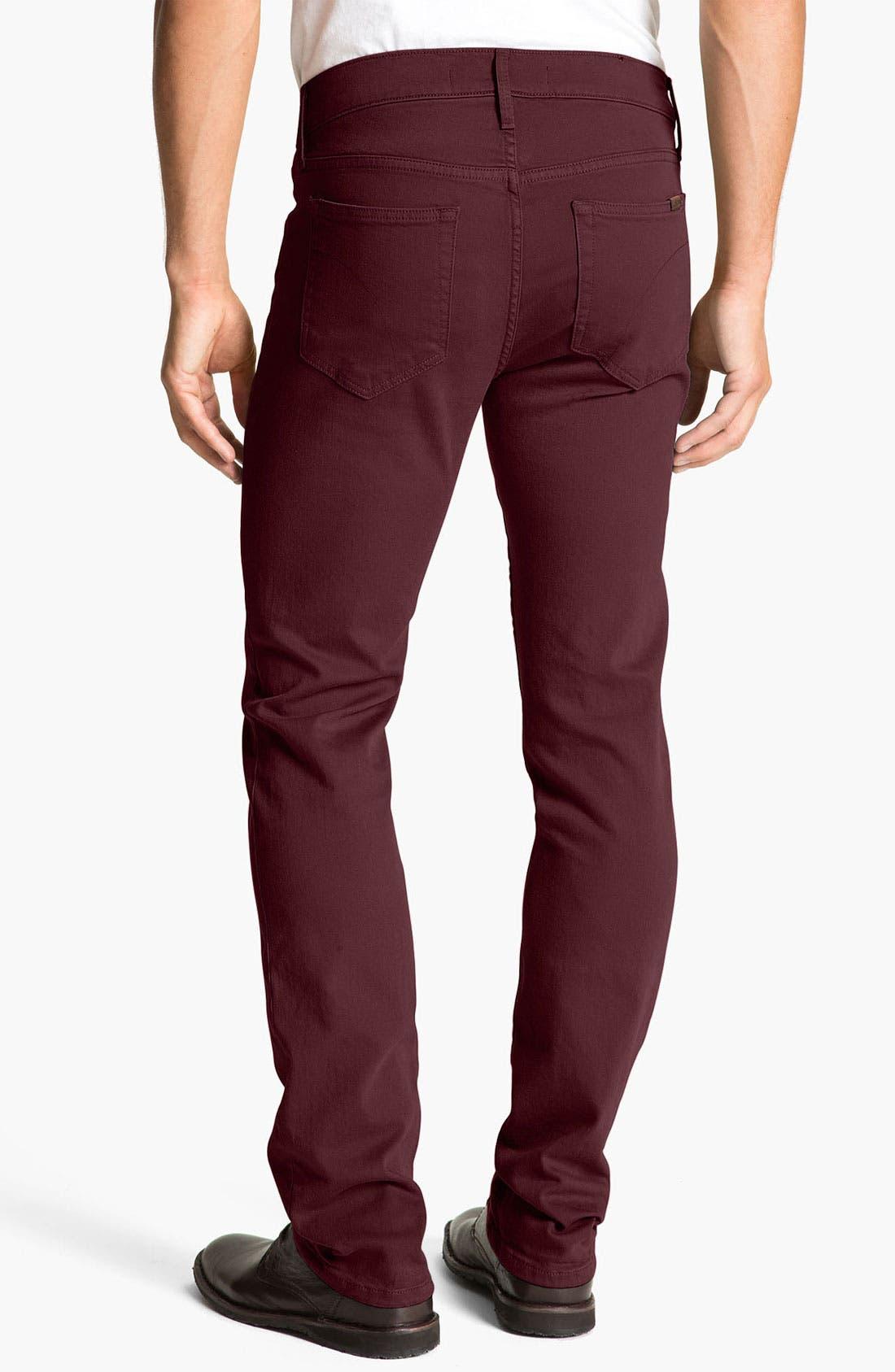 Alternate Image 1 Selected - Joe's 'Brixton' Slim Straight Leg Jeans (Bordeaux)