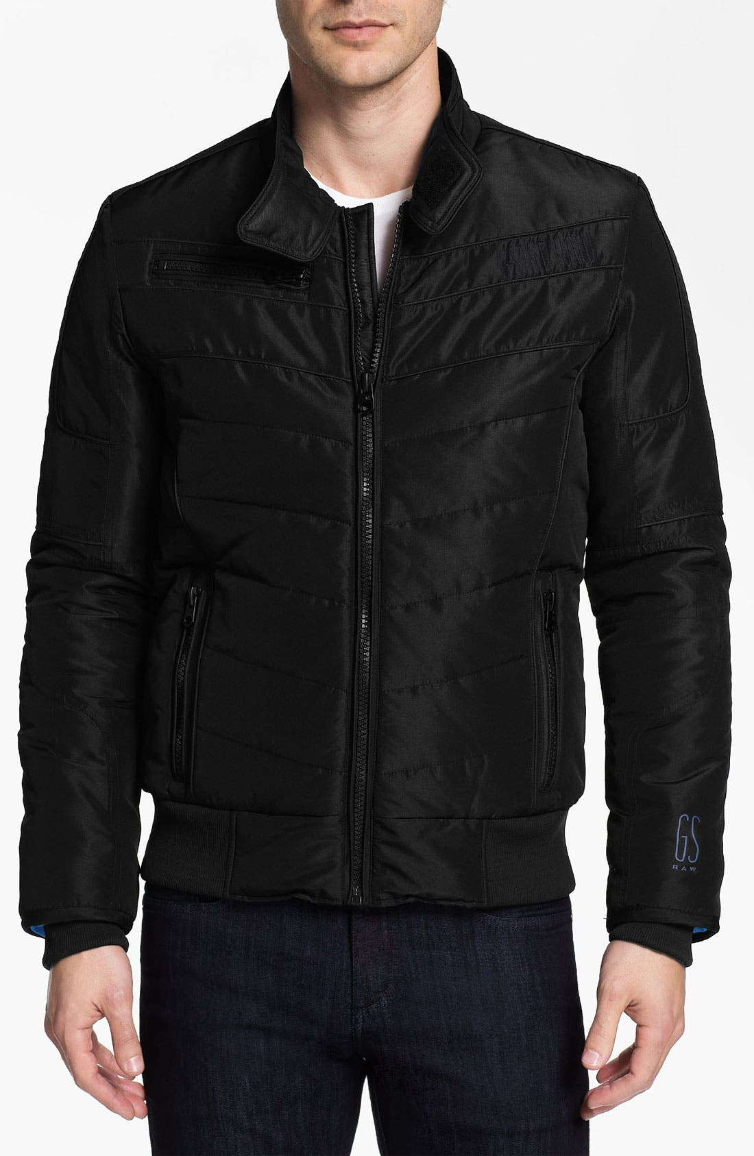 Alternate Image 1 Selected - G-Star Raw 'Mortiz' Quilted Moto Jacket