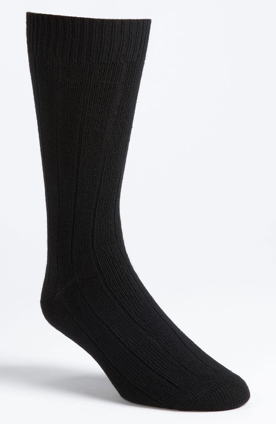 Alternate Image 1 Selected - Lorenzo Uomo Rib Socks