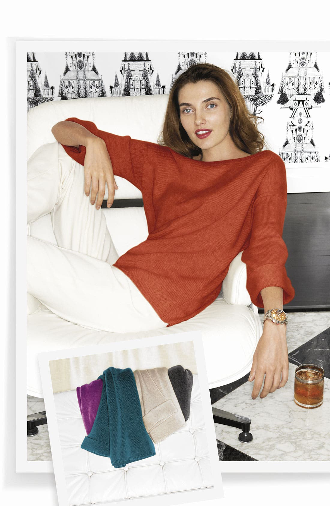 Alternate Image 2  - Nordstrom Collection Cashmere Sweater and Lafayette Trousers