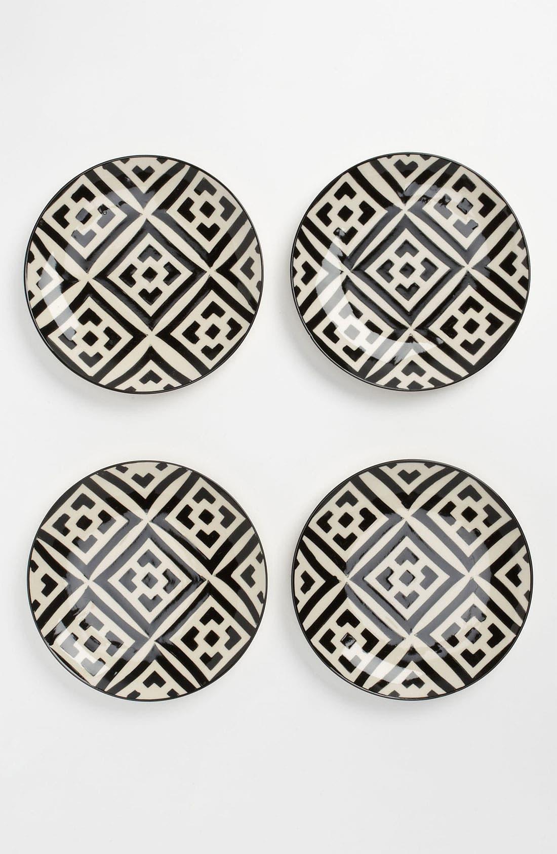 Alternate Image 1 Selected - Black & White Dessert Plates (Set of 4)
