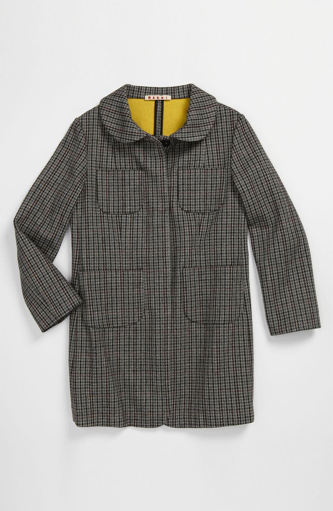 Alternate Image 1 Selected - Marni Houndstooth Print Coat (Little Girls & Big Girls)