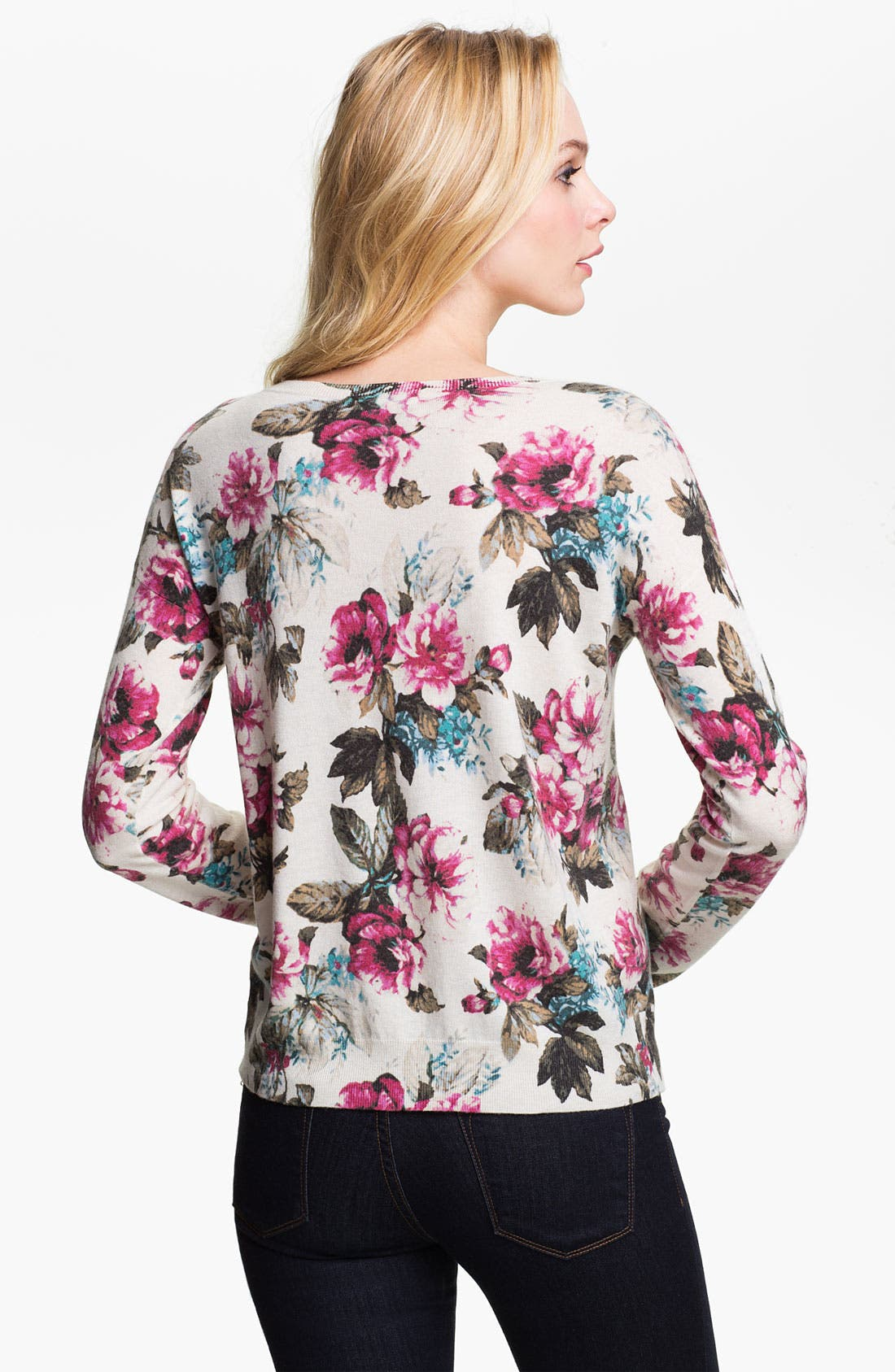Alternate Image 2  - Joie 'Shelsea' Floral Print Sweater