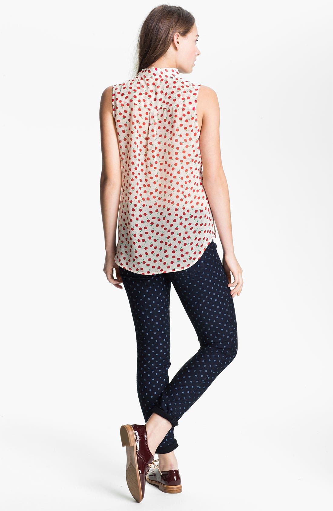 Alternate Image 2  - MOD.lusive Sleeveless Polka Dot Blouse