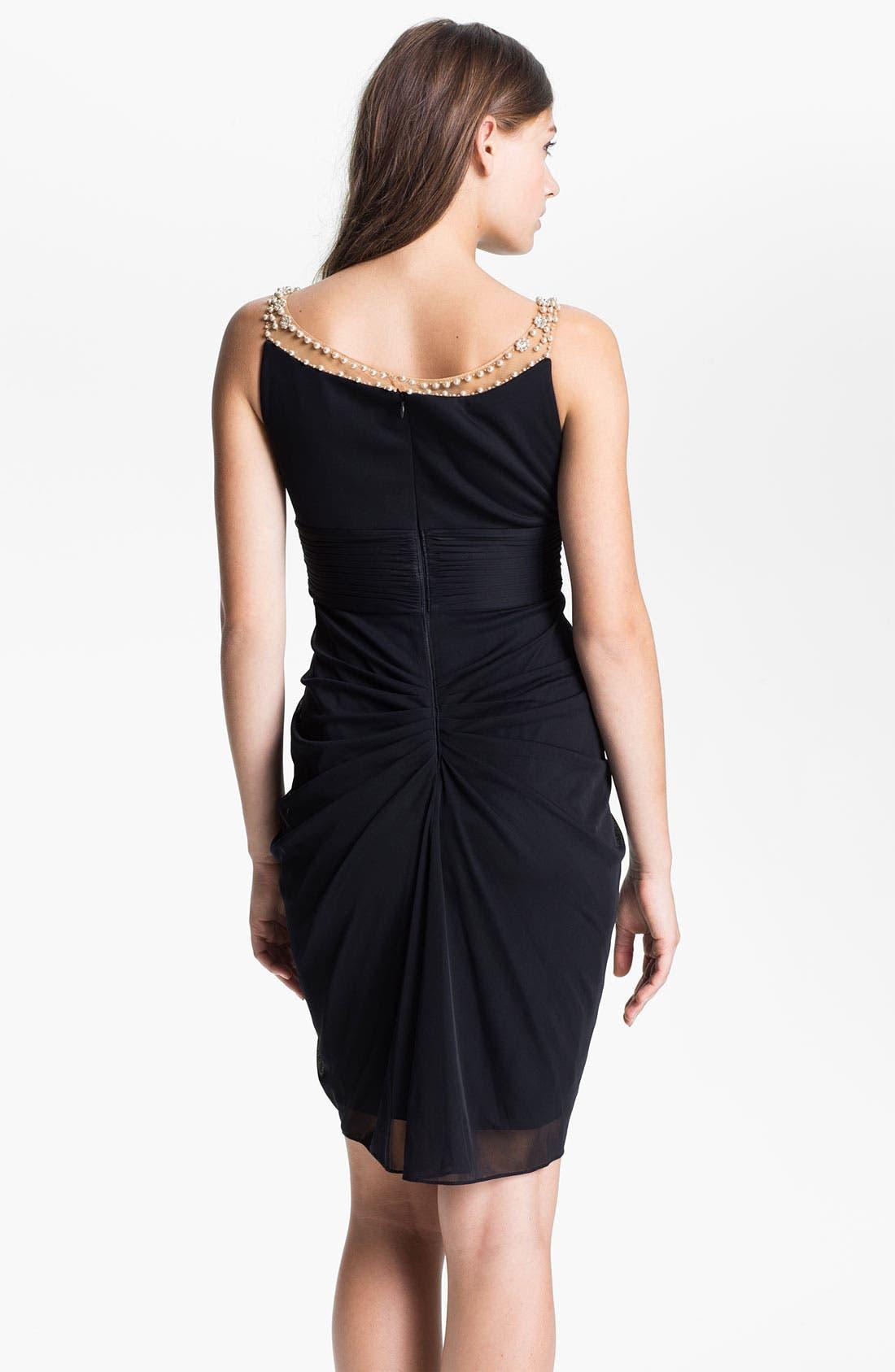 Alternate Image 2  - Adrianna Papell Jeweled Yoke Cocktail Dress