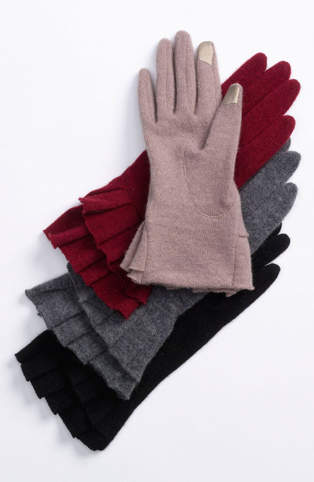 Alternate Image 1 Selected - Nordstrom Ruffle Tech Gloves