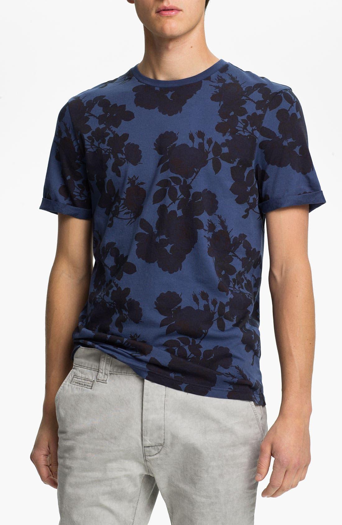 Main Image - Topman 'High Roller' Allover Floral Print T-Shirt